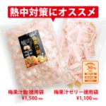 ◎ 熱中症対策商品 梅果汁ゼリー&飴